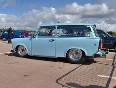 Pro Street Trabant (ukdaykev) Tags: blue car estate retro trabant gaydon prostreet c743xln