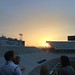 Stadium sunset