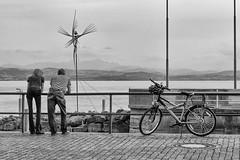 Lake Constance (Foto_Michel) Tags: street woman lake man alps water girl bike clouds see wasser candid wolken mann alpen frau bodensee fahrrad constance friedrichshafen