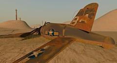 Dryland Crash (Tizzy Canucci) Tags: plane sand rust desert crash decay aircraft hills secondlife dust desolate dryland
