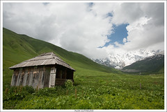 Abandoned Hut (alon_gutf) Tags: mountains green nature georgia landscape hut valley caucasus svaneti