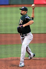 Jason Hammel's debut with the A's (artolog) Tags: sanfrancisco california oakland athletics starter pitcher pitching starting attpark as