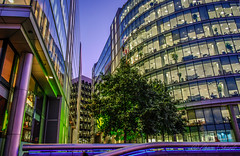 London City Hall (Chase S) Tags: longexposure london towerbridge neon cityhall gla greaterlondonauthority