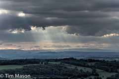 God Rays on Herefordshire (ThingyMeBobs) Tags: uk summer landscape places when type hdr 18105 themalverns nikond7000