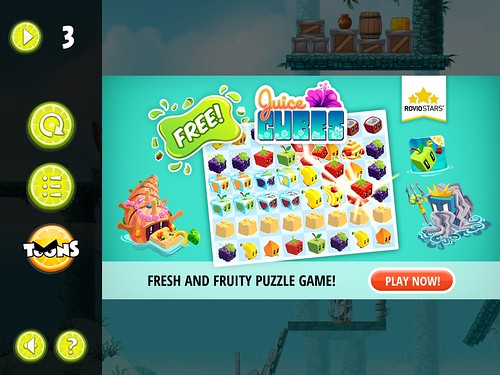 Angry Birds Rio Pause Menu: screenshots, UI