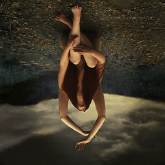 Sweet, Sweet Mary (kim.yanick) Tags: sky nature field female clouds photoshop portraits dark photography nudes upsidedown artistic fineart surreal figure conceptual figurative bookcovers fineartphotography darkart conceptualphotography fineartportraits recordingalbumart