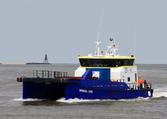 WINDEA ONE (cuxclipper ) Tags: boat schiff tender elbe watertaxi windenergy katamaran versorger windeaone offshorecat