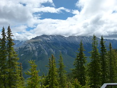 Clouds at the Mountain Top (Toats Master) Tags: mountains nature landscape rockies view scenic alberta banff majestic sulphurmountain banffnationalpark
