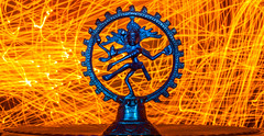 The Shiva Thandavam (prethived) Tags: light lightpainting color dance god shiva nataraja