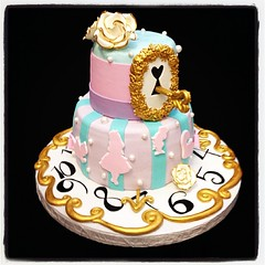 Alice in wonderland baby shower #babyshower #cake #alice #aliceinwonderland #wonderland #key #lock #clock #cat #rabbit #madhatter #roses #bows #royaltycakes #wemakeawesomecakes #ilovemyjob #disney (Royalty_Cakes) Tags: blue white flower rose square gold key purple lock alice stripes lofi pearls numbers squareformat babyshower aliceinwonderland iphoneography royaltycakes instagramapp uploaded:by=instagram