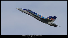 CF-18 Hornet - Canadian Airforce (Moe_Ali) Tags: canada canon river high war military jet 300mm airshow telephoto 7d hornet douglas panning takeoff pilot teleconverter mcdonnell 2014 c18 14x afterburners 420mm militaryjet canadianairforce c188 canon300mmf4 14xtele kenkopro300dgx c18hornet