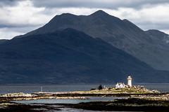 Ornsay lighthouse (NSJW photos) Tags: lighthouse lake mountains scotland isleofskye loch ornsay nsjwphotos