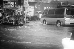 Yesterday's Flood (Daniel Y. Go) Tags: street bw rain mono fuji flood philippines ulan baha kalye xt1 fujixt1