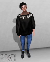 /LOVE ME OR HATE ME/ (Levi Megadon // *OMG*) Tags: new male men fashion hair beard blog sweater outfit clothing hands shoes truth slim pants expo mesh hipster style ears pic mandala blogger fresh clothes sl jeans event secondlife mens denim drape sweatshirt slack hip tight dope unisex swag facial exclusive cuffs loose tucked credo stylish boxy baggy lotd tmd cuffed loafer redgrave entente slink spiritstore appliers newformal 2byte themensdept beusame