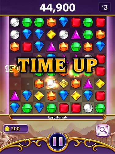 Bejeweled Blitz Level Completed: screenshots, UI