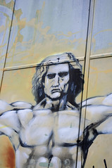 Vitruvian Man (remy_jourde) Tags: street man art graffiti vitruvian vitruve