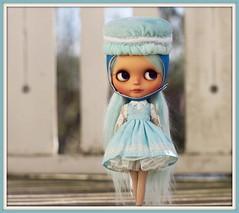Blue macaron!