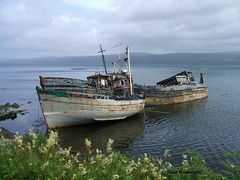 Fishing Boat Wrecks On Mull Scotland in 2007 (Dave Russell (1.5 million views thanks)) Tags: shipwreck water sea loch wreck vehicle mfv wooden fishing boat ship vessel isle island mull scotland 2007 outdoor waterfront coast coastal landscape seascape motor work transport simplysuperb simply superb infinatexposure