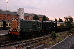 08015 KIDDERMINSTER 101009 (David Beardmore) Tags: br britishrail 060 dieselengine svr severnvalleyrailway britishrailways diesellocomotive gronk class08 dieselshunter shuntinglocomotive 08015 d3022 13022