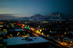 before i put my glasses on (whlteXbread) Tags: morning winter mountains sunrise blurry colorado bokeh boulder outoffocus lonely flatirons 2012 dailies m9 folsomstreet mywindow elmarit 28mmf28 whatimseeing