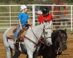 Welch Jr Rodeo, August 2014 (Garagewerks) Tags: boy horse male sport race cowboy all child sony barrel sigma august jr rope rodeo cans welch roping 2014 50500mm barrelracing views50 f4563 slta77v