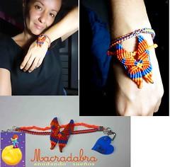 Pulsera con mariposa en #macrame #armparty (Macradabra) Tags: bracelet mariposas macrame pulsera artesania regalos regalitos manillas armparty amoryamistad macradabra