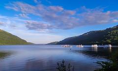 Loch Lomond (Angela Freeman) Tags: sky boats scotland highlands fuji loch lochlomond f900exr