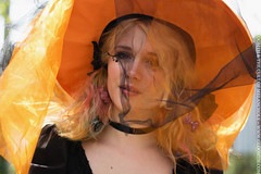 Candy Witch (gloomth) Tags: orange cute halloween hat hair ruffles rainbow october doll dress candy witch magic gothic goth spooky lolita bow kawaii egl