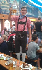 Local guy with The lederhosen outfit!
