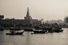 (Ziad Hunesh) Tags: city sea canon boat blackwhite doha qatar fanar 650d zhunesh
