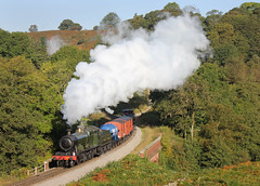 Morning Goods (Steaming5043) Tags: heritage track trains goods steam line locomotive preserved railways freight locomotives gwr nymr northyorkshiremoorsrailway greatwesternrailway heavyfreight darnholme gwr28xx photocharter