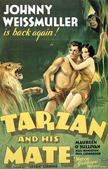 Tarzan and His Mate (1934) (FranMoff) Tags: chimpanzee lion tarzan maureenosullivan movieposters 1934 tarzanandhismate johnnyweissmuller