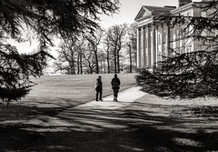 A walk in the park.. (AJFpicturestore) Tags: awalkinthepark nationaltrust house grounds estate attinghampark shropshire shropshirewalks atcham alanfoster monochrome blackwhite