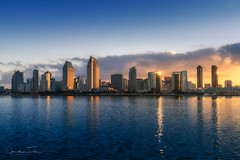 San Diego Skyline (Jonathan Tasler) Tags: sandiego skyline sunrise downtown ocean coronadoisland bay architecture california