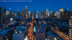 Blue Midtown (20170324-DSC09221-Edit) (Michael.Lee.Pics.NYC) Tags: newyork aerial hotelview presslounge hellskitchen midtownmanhattan night twilight bluehour rooftops ink48 timessquare architecture cityscape skyline sony a7rm2 zeissloxia21mmf28