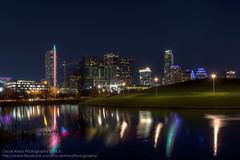 The New Skyline (OscarAmos) Tags: hdr availablelight texas water skyline detailenhancer reflection lightroom austin night oscaramosphotography nikond7200 18200mm downtown