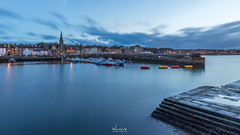The Blue Hour, Newhaven Harbour (MilesGrayPhotography (AnimalsBeforeHumans)) Tags: architecture britain canon 6d 1635 ef1635mmf4lisusm canonef1635mmf4lisusm bluehour dusk edinburgh eos ef europe evening f4l firthofforth glow harbour harbor iconic landscape longexposure leith nd nd1000 10stopper newhaven newhavenharbour outdoors photography reflections scotland skyline town twilight uk unitedkingdom waterscape spring