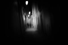 through the night (ChrisRSouthland) Tags: barcelona d800 nightphotography nightshot people street icm intentionalcameramovement bw blackandwhite schwarzweiss nikond800 sigmaart50mmf14