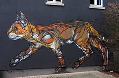 Cat Mural, Zolder (B) (Rick & Bart) Tags: belgie belgium zolder mural graffiti streetart cat kat art rickvink rickbart canon eos70d dzia