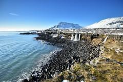 Breiðavík. (Árni Gudjon) Tags: breidavik snaefellsnes vetur foss sjór himinn stapafell winter waterfalls fost snow ocen