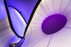 Strange Reality (Sean Batten) Tags: mathematics sciencemuseum wintongallery london england unitedkingdom gb purple lines curves zahahadid nikon d800 1424 abstract architecture