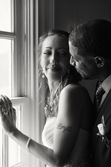 Inner Beauty (Never Infamous) Tags: wedding lawrence window light natural blackandwhite bw bnw monochrome bride groom man woman couple marriage portrait tuxedo tux dress gown love togetherness people nikon nikond7200 nikkor dslr neverinfamous