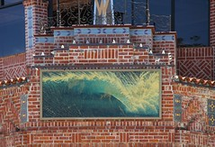 Downtown Ventura; Watermark Building, now closed forever (David K. Edwards) Tags: wall public art painting breaker wave brick ventura california watermark