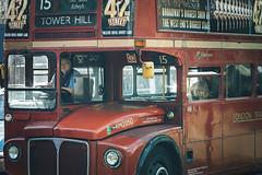 Routemaster (www.javierayala-photography.com) Tags: routemaster doubledecker bus icon old landmark icono london londres england inglaterra passengers unitedkingdom uk red rojo 42 towerhill 15