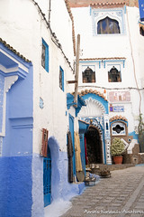 A street in Chefchaouen Medina (adventurousness) Tags: bluecity chefchaouenthebluepearl thebluecity blue chaouen chefchaouen morocco travel medina