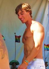 LBPride14 284 (danimaniacs) Tags: shirtless man hot sexy guy smile hunk pride longbeach lbpride14