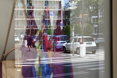 Through the reflection, and what I saw there.. (Andrey Hechuev |  ) Tags: woman reflection window glass lady reflections donna colours colorfull finestra riflessi multicolor reflexin vetro  multicolore