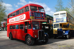 KYY653 1950 AEC Regent III with Park Royal body ex London Transport RT1798 (Pete Edgeler) Tags: iii regent brooklands aec classicbus rt1798