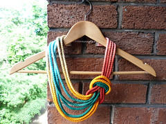Hand Dyed Ombre Reef Knot Necklace (Bunny Bosworth) Tags: colour texture festival cord necklace handmade rope ombre statement gradient dye dylon knotted