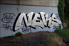 Neks (Alex Ellison) Tags: uk england urban graffiti boobs chrome graff trackside neka 1t nekah neks